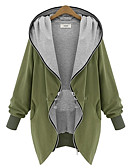 cheap Women's Coats & Trench Coats-Women's Fashion Daily Active Coat Long Sleeve All Seasons