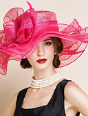 cheap Evening Dresses-Flax Hats with Flower 1pc Wedding / Special Occasion Headpiece