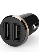 olcso Sportos óra-ldnio® 12V ~ 24V kettős USB autós töltő biztonsági feszültség iPhone / Samsung és mások (5V-2.1a)
