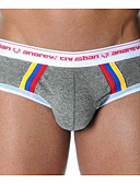 cheap Men's Underwear & Socks-Men's Super Sexy Briefs Underwear Color Block 1 Piece