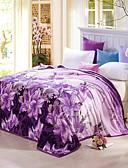 baratos Roupa de Exterior de Mulher-Velocino de Coral, Estampado Floral / Botânico 100% Poliéster cobertores