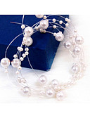 cheap Mother of the Bride Dresses-Imitation Pearl Head Chain with 1 Wedding / Special Occasion Headpiece