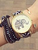cheap Bracelet Watches-Women's Quartz Bracelet Watch Handmade Casual Watch Fabric Band Flower Bohemian Fashion Black