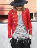 זול בלייזרים וחליפות לגברים-בגדי ריקוד גברים כחול כהה אדום M L XL בלייזר שיק ומודרני אחיד לַחְצָן / שרוול ארוך / אביב
