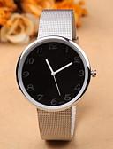 baratos Relógio Elegante-Mulheres Relógio de Pulso Aço Inoxidável Banda Fashion / Minimalista Prata / Um ano / SSUO 377