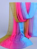 preiswerte Schals-Damen Retro Party Büro, Chiffon Infinity-Schal - Druck Regenbogen
