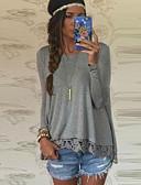 abordables Camisas y Camisetas para Mujer-Mujer Encaje - Algodón Blusa Corte Ancho Retazos / Otoño