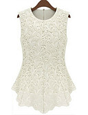 cheap Women's Tanks-Women's Plus Size Tank Top - Solid Colored Lace / Summer