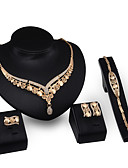 cheap Mother of the Bride Dresses-Chunky Jewelry Set - 18K Gold Plated, Cubic Zirconia Vintage, Party, Work Include Gold For Party / Special Occasion / Anniversary / Earrings / Necklace