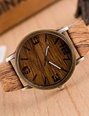 billige Trendy klokker-Dame Armbåndsur Quartz Hverdagsklokke Lær Band Analog Vintage Mote Ull Brun / Kaki - 4# 5# 6# Ett år Batteri Levetid / Tianqiu 377