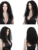 cheap Latin Dance Wear-Human Hair Full Lace / Lace Front Wig Wig Curly 130% Density Natural Hairline / African American Wig / 100% Hand Tied Women's Short / Medium Length / Long Human Hair Lace Wig