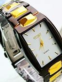 baratos Relógio Elegante-Homens Relógio de Pulso Quartzo Preta Relógio Casual Analógico Amuleto - Dourado Branco Preto Um ano Ciclo de Vida da Bateria / TY 377A