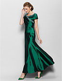 cheap Evening Dresses-A-Line V Neck Ankle Length Taffeta Mother of the Bride Dress with Beading / Side Draping by LAN TING BRIDE®