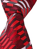 cheap Men's Ties & Bow Ties-Unisex Party / Work / Basic Polyester Necktie - Color Block Print / Cute / Multi-color