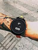 baratos Couro-Homens Relógio de Pulso Quartzo Relógio Casual Legal Couro Banda Analógico Fashion Preta - Branco Preto Um ano Ciclo de Vida da Bateria / Tianqiu 377