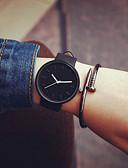 זול שעונים אופנתיים-בגדי ריקוד גברים בגדי ריקוד נשים לזוג שעוני אופנה קווארץ שעונים יום יומיים עור להקה מינימליסטי מגניב שחור