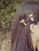 preiswerte Kopfbedeckungen für Damen-Damen Party / Büro, Aleación Haar Clip Solide / Niedlich / Goldfarben