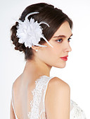 cheap Wedding Veils-Crystal / Fabric Tiaras / Flowers with 1 Wedding / Special Occasion / Party / Evening Headpiece