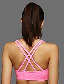 voordelige Hardloopshirts, -broeken en -shorts-strappy Sport bh's Gewatteerd Medium ondersteuning Voor Yoga / Hardlopen - Geel / Blauw / Roze Ademend, Zacht, Schokbestendig Dames Polyester / Rekbaar / Zweetafvoerend