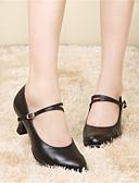 abordables Calcetines y Medias-Mujer Zapatos de Baile Moderno Cuero Sandalia Zapatilla Tacones Alto Rendimiento Hebilla Pelo Con Cordón Tacón Cubano Marfil Borgoña