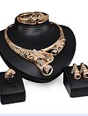 Χαμηλού Κόστους Βραδινά Φορέματα-Κοσμήματα Σετ - Cubic Zirconia Βραχιόλι, Πάρτι, Ευρωπαϊκό Περιλαμβάνω Χρυσό Για Πάρτι / Ειδική Περίσταση / Επέτειος / Cercei / Κολιέ