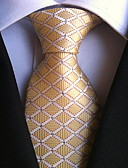 baratos Gravatas e Gravatas Borboleta-Homens Festa Trabalho Básico Poliéster, Gravata - Estampado