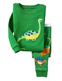 رخيصةأون بولو رجالي-كرتون قطن بنطلون طباعة أخضر 100 / مناسب للعطلات / مناسب للخارج / طفل صغير
