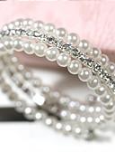 preiswerte Hemd-Damen Perlen Mehrlagig Stapelbar Wickelarmbänder Perlen Künstliche Perle Strass Billig damas Mehrlagig Armbänder Schmuck Weiß Für Hochzeit Alltag Normal Maskerade Verlobungsfeier Abiball