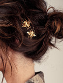 cheap Cocktail Dresses-Women's Party Alloy Hair Clip - Solid Colored / Cute / Gold