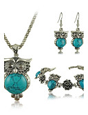 cheap Quartz Watches-Women's Turquoise Jewelry Set - Turquoise Vintage, Fashion Include For Party / Birthday / Engagement / Earrings / Necklace / Bracelets & Bangles
