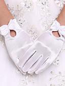 preiswerte Hochzeit Schals-Elasthan Handgelenk-Länge Handschuh Brauthandschuhe / Party / Abendhandschuhe Mit Schleife / Perle