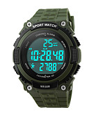 cheap Sport Watches-Men's Digital Wrist Watch / Sport Watch Alarm / Calendar / date / day / Chronograph / Water Resistant / Water Proof PU Band Charm Black /