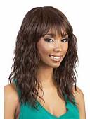 halpa Pukukello-Naisten Synteettiset peruukit Koneella valmistettu Keskikokoinen Laineikas Musta Ruskea Afro-amerikkalainen peruukki Tummille naisille