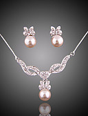 cheap Cocktail Dresses-Women's Jewelry Set - Imitation Pearl Elegant, Bridal Include Drop Earrings / Pendant Necklace For Wedding / Party / Special Occasion / Anniversary / Birthday / Engagement / Gift / Daily