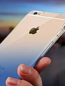 זול מגנים לטלפון-מגן עבור Apple iPhone X / iPhone 8 Plus / iPhone 8 עמיד במים / אורLEDמהבהב כיסוי אחורי צבע הדרגתי רך TPU