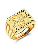 お買い得  メンズシャツ-男性用 指輪 調節可能なリング シグネットリング パーティー カジュアル ファッションリング ジュエリー ゴールド 用途 パーティー