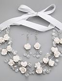 hesapli Kadın Elbiseleri-Kadın's Kristal Takı Seti - Dahil etmek Beyaz Uyumluluk Düğün / Parti / Özel Anlar / Yıldönümü / Doğumgünü / Nişan / Hediye