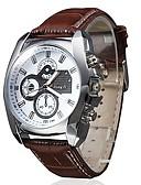 baratos Couro-Homens Relógio de Moda Japanês Quartzo 30 m Relógio Casual PU Banda Analógico Amuleto Marrom Um ano Ciclo de Vida da Bateria