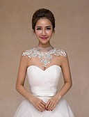 cheap Prom Dresses-Sleeveless Lace Wedding Wedding  Wraps With Crystal / Pearl Collars