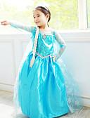 tanie Sukienki-Księżniczka / Bajkowe / Elsa Kostiumy Cosplay Kostiumy z filmów Niebieski Sukienka Halloween / Nowy Rok Szyfon