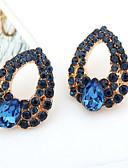 olcso Menyasszonyi fátyol-Női Kristály Függők - Kocka cirkónia, Hamis gyémánt Lógó Luxus Kék Kompatibilitás