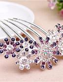 זול שמלות נשים-מסרק שיער אבן נוצצת / סגסוגת פרח אלגנטית בגדי ריקוד נשים / מסרקי שיער / מסרקי שיער