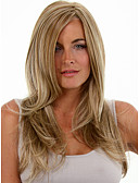 cheap Women's Jackets-Synthetic Wig Women's Straight Blonde Synthetic Hair Blonde Wig Medium Length Capless Blonde
