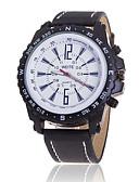 cheap Fashion Watches-Men's Quartz Wrist Watch Casual Watch Leather Band Charm Casual Black Brown