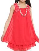 olcso Lány ruhák-Gyerekek Lány Virágos Egyszínű Ujjatlan Ruha