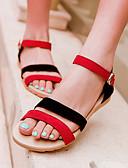 abordables Llaveros de Regalo-Mujer Zapatos Ante Primavera / Verano Tacón Cuña Combinación Negro / Morado / Negro / Rojo
