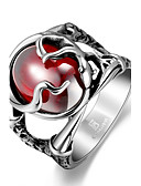 cheap Party Headpieces-Men's Red Cubic Zirconia Statement Ring - Stainless Steel, Zircon, Cubic Zirconia Skull Unique Design, Fashion 8 / 9 / 10 / 11 Red For Christmas Gifts