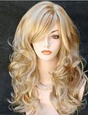 halpa Tanssiasusteet-Synteettiset peruukit Kihara Vaaleahiuksisuus Synteettiset hiukset Vaaleahiuksisuus Peruukki Naisten Pitkä Suojuksettomat