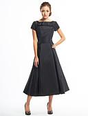povoljno Koktel haljine-A-kroj Lađa izrez Do sredine lista Taft Mala crna haljina Koktel zabava Haljina s Gumbi po TS Couture®