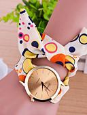 preiswerte Armband Uhr-Damen Uhr Armband-Uhr Quartz Stoff Mehrfarbig Armbanduhren für den Alltag Analog damas Charme Modisch Orange Blau / Ein Jahr / Ein Jahr / Tianqiu 377